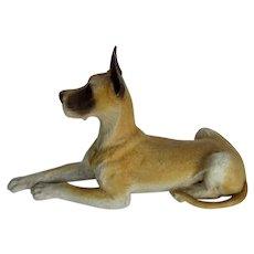 Vintage Great Dane Dog Castagna Italy Reclining