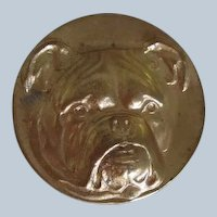 Vintage Brass Finding English Bulldog Dog
