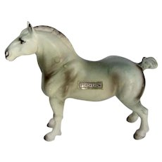 Vintage 1950's Japan China Percheron Horse