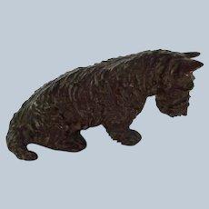 Rare Vintage Marguerite Kirmse Bronze Scotty Dog Signed