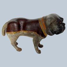 Wonderful Antique Terracotta Pug Dog Glass Eyes