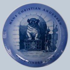 "Rare Royal Copenhagen Plate w/Pug Dog Andersen ""The Tinder Box"""