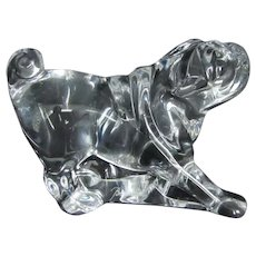 Beautiful Crystal Art Glass Baccarat France Pug Dog Vintage