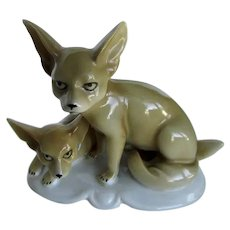Vintage Pair Of Desert Foxes Erphila Germany