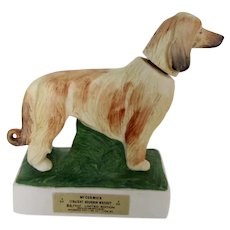 Vintage 1976 Afghan Hound Dog Liquor Decanter