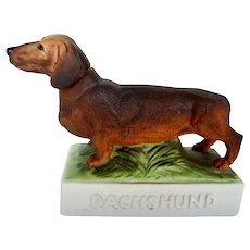 Vintage C.1976 Dachshund Dog Liquor Decanter