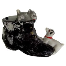 Match Holder w/Striker Jack Russell Dog Cat Vintage
