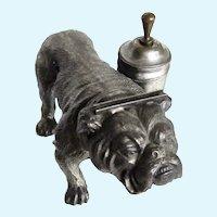 Kronheim & Oldenbush Antique Bulldog Dog Striker Lighter Incredibly Rare