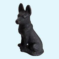 Vintage Cast Iron German Shepherd Dog Paperweight