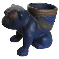 British English Bulldog Dog Pottery Planter Vintage