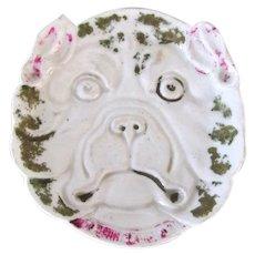Victorian Bulldog/Pug Pin Nut Dish Antique