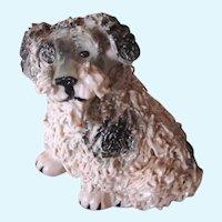 Miniature Spaghetti Terrier Dog Vintage Signed