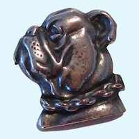 Vintage 800 Silver Bulldog Dog Brooch/Pin