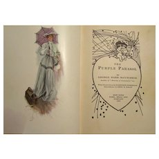 C. 1905 Victorian Love Story Book The Purple Parasol
