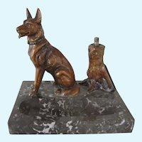 Extremely Rare Striker Lighter German Shepherd/Belgian Malinois Dog Antique