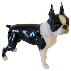 Handsome Hutschenreuther Porcelain Boston Terrier Dog Vintage