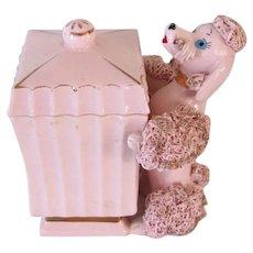 Vintage Spaghetti Poodle Dog Dresser Jar