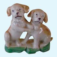 Vintage Lustreware Pair Pug Dogs Germany