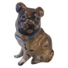 Rare Micro Bronze Pug Dog Vienna Vintage