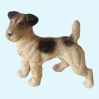Hubley Fox Terrier Dog Cast Iron Paperweight Vintage