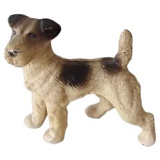 Hubley Fox Terrier Dog Cast Iron Paperweight Vintage