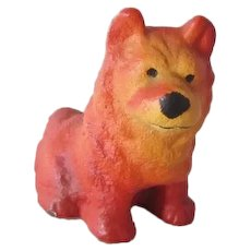 Vintage Cast Iron Chow Dog Paperweight