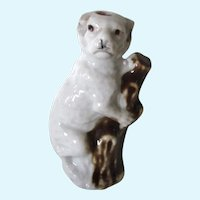Antique Working Whistle Staffordshire Pug Dog Figural