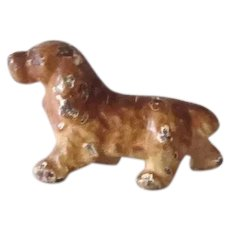 Vintage Miniature Cast Iron Paperweight Spaniel Dog