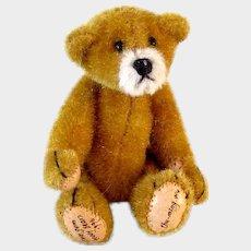 Artist Signed Little Gem Teddy Bear 1996 Vintage