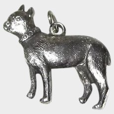Antique Sterling Silver Early Boston Terrier Charm