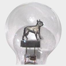 Vintage Aerolux 1930's Light Bulb Boston Terrier Dog Filament