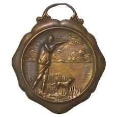 Antique Watch Fob Hunter With Dog Shooting