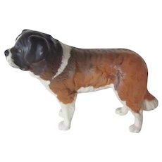 "Vintage Beswick Matte Finish St. Bernard Dog ""Corna Garth Stroller"" #2221"