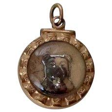 Rare Intaglio Carved Pug/Bulldog Dog Watch Fob Antique