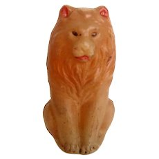 Small Celluloid Lion Rattle Baby/Child Vintage