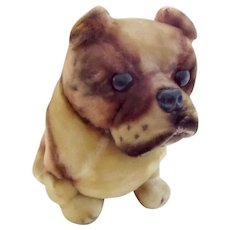 "Vintage Kamar 1960's Plush Stuffed Bulldog Dog Toy 10"""