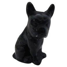 Black French Bulldog Dog Nursery Size Doorstop Vintage