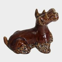 Lovely Vintage Scotty Scottish Terrier Dog Pottery Figurine