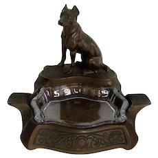Handsome Deco Great Dane Dog Dresser Tray/Ashtray Vintage