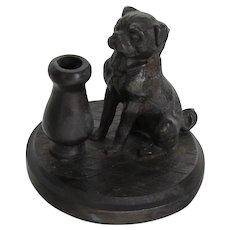 Antique Pug Dog Pen/Pencil Holder Victorian