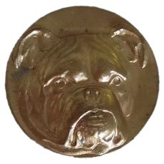 Vintage Brass Finding English Bulldog Dog