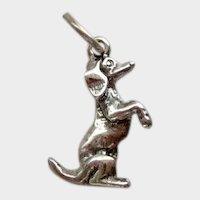 Vintage Begging Dachshund Dog Sterling Silver Charm