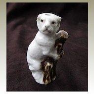 Staffordshire Antique Pug Dog Porcelain Whistle