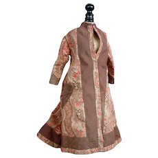 Rare Robe A l'Orientale Antique French Fashion Doll Dress for Exhibition C. 1885