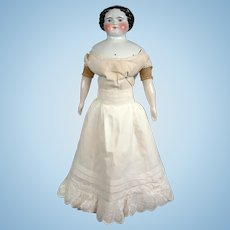 Delectable Thick Lawn Half Slip With Oodles of Embroidery For Fashion Or China Lady Doll