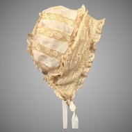 Delightful Silk and Lace Ribbon Work Bonnet For French Bebe c1890