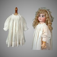 Wonderful Antique White Cotton Bebe Full Slip c.1885 w/Extraordinary Smocking & Silky-Smooth Cotton