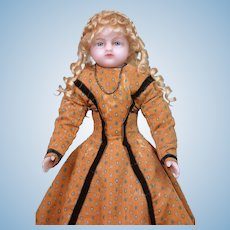 "Outstanding 19"" English Wax Bebe By Meech C. 1862"