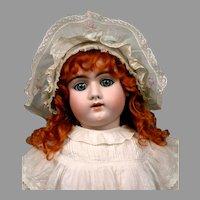 """Striking 29"""" Heinrich Handwerck 109 Child in Crisp Antique Whites"""