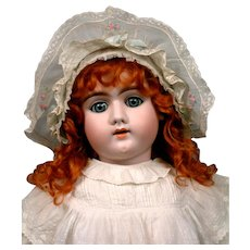 "Striking 29"" Heinrich Handwerck 109 Child in Crisp Antique Whites"